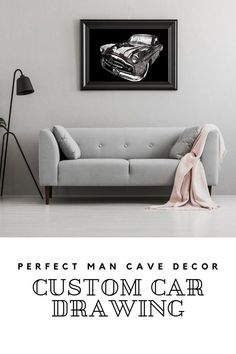 Our custom car drawing will be a great addition to gift idea for men. Custom car print will look great in as any man cave. Do you have any treasured car or bike photos you would like to display on your wall? I would love to recreate your photo as a beautiful custom pencil or colour pencil & charcoal sketch so that you proudly display your very own unique wall art in your home, office or workplace. I will be creating your artwork in a format that is easily printable.