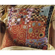 William Morris Fan Club: Klimt's Golden Kiss and Needlepoint