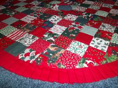 Patchwork Christmas Tree Skirt By Krissyde On Etsy