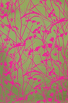 Meadow silk dupion fabric – sweet pea / neon Surface Pattern, Pattern Art, Surface Design, Pattern Design, Textiles, Textile Patterns, Illustrations, Printed Linen, Pretty Patterns