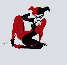 Harley Quinn by Bruce Timm Bruce Timm, Comic Books Art, Comic Art, Book Art, Dc Animated Series, Beste Comics, Hq Dc, Gotham Girls, Dc Comics Characters