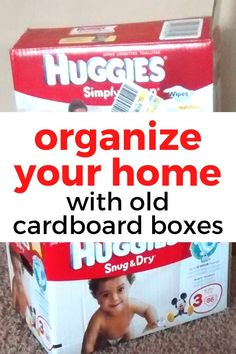 Reuse diaper boxes for this closet organization idea on a budget. Quick and simple closet storage idea. How to organize your closet for cheap. #hometalk
