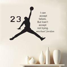 Michael Jordan Encouragement Words Wall Decal Sticker