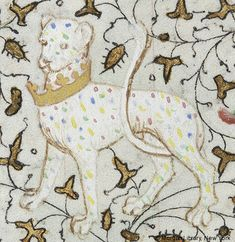 Leopard wearing crown around its neck | Book of Hours | France, Paris, | ca. 1420-1425 | The Morgan Library & Museum