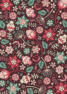 Wow. Those colors are great! And beautiful pattern as well! Wallflowers by Anna Deegan, via Behance