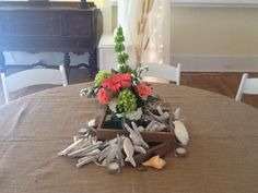 Beach theme by Flowers by On at Thompson House and Gardens