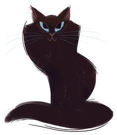 250: Black Cat Sketch