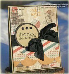 A masculine thank yu card using supplies from i {heart} papers!