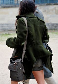 Love the back of this coat and the hunter/forest green colour