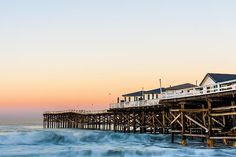 Crystal Pier Dawn Photograph by Priya Ghose - Crystal Pier Dawn Fine Art Prints and Posters for Sale fineartamerica.com #waterscapephotography #oceanfront #sandiego