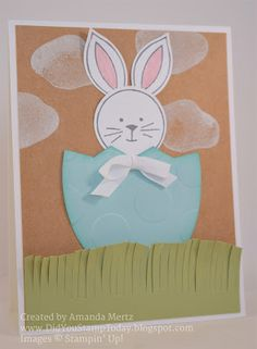 Did You Stamp Today?: Easter Bunny Egg - Stampin' Up! Friends & Flowers