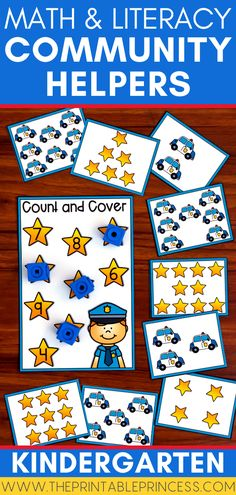Great for Fall or a Community Helpers unit this hands-on and engaging packet highlights a variety of community helper jobs including construction, mail carrier, police, fire fighter, teacher, doctor, and more. Included in this packet are 6 math and literacy centers perfect for kindergarten! Kindergarten Math Activities, Math Literacy, Kindergarten Classroom, Literacy Centers, Helper Jobs, Construction Theme, Uppercase And Lowercase Letters, Community Helpers, Farm Theme