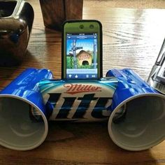 Who needs a stereo dock when you've got solo cups and an aluminum can? Wacky Wednesday Camping!