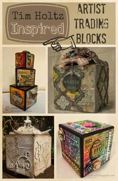 Tim Holtz Inspired Artist Trading Blocks | @ArtTheBlock #TheATB