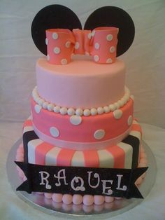 Minnie mouse cake! Thinking about Olivias first birthday cake
