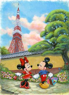 Annick Biaudet - Mickey Mouse - Minnie's New Outfit - world-wide-art.com