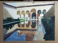 Ian Potts Artist: The Roman Baths, Bath, England, still pinned to the board Watercolor Water, Watercolor Artists, Watercolor Landscape, Artist Painting, Traditional Paintings, Contemporary Paintings, John Ruskin, Andrew Wyeth, Abstract Painters