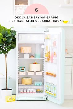 6 Oddly Satisfying Spring Refrigerator Cleaning Hacks by top Houston lifestyle Blogger Ashley Rose of Sugar & Cloth #kitchen #cleaning