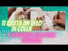 Trasferimento immagini con la colla vinilica :il segreto fondamentale per riuscirci. - YouTube Decoupage, E Design, Youtube, Decoration, Stencils, Hobbies, Shabby Chic, Arts And Crafts, Canvas