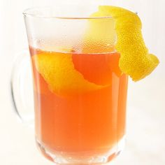 A bright blend of spirits, spices, and chamomile tea, this drink takes only a handful of ingredients to make. Rub the rim of the glass with a lemon garnish to add a little zest to each sip! http://www.bhg.com/recipes/slow-cooker/slow-cooker-drinks/?socsrc=bhgpin123014chamomiletoddies&page=16