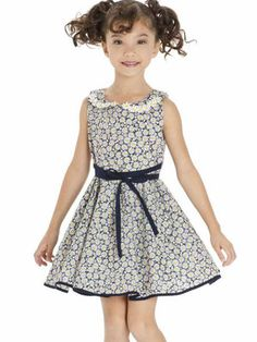 benetia Girls Floral Sleeveless Skirts Kids One Piece Dresses School Party Casual