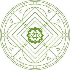 Mandala con Chakra Anahata Disegno da colorare