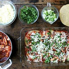 Unroll Your Tortillas for These Smoky, Repeat-Worthy Chicken Enchiladas Easy Chicken Enchilada Casserole, Enchilada Recipes, Chicken Enchiladas, Chipotle In Adobo Sauce, Whole Food Recipes, Healthy Recipes, Savoury Recipes, Dinner Recipes, Poached Chicken