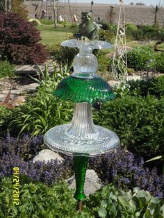 Glass yard art