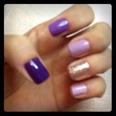 Ombré nails #purple