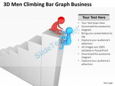 D Men Sitting Around Bar Graph Ppt Graphics Icons Powerpoint