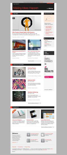 Inbox Award - HTML email inspiration design, makingideashappen