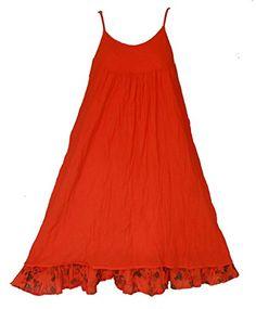 Bonya Women's Soft Spaghetti Strap Blouse Dress - (Orange) Bonya Collections http://www.amazon.com/dp/B01D87JH00/ref=cm_sw_r_pi_dp_I2c8wb1715MQX