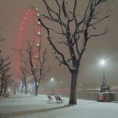 London Eye in winter