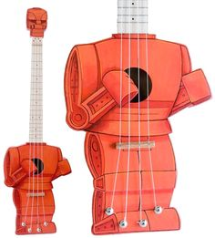 A Rock 'Em Sock 'Em Robot ukelele is pretty much the only way of improving an already-awesome instrument like this!