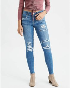 ae6863b179b Shop at American Eagle for High-Waisted Jeans for Women that look as good  as they feel. Browse high-waisted jeggings, skinny jeans, Girlfriend jeans  and ...