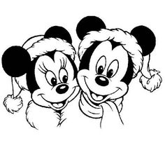 Mickey Mouse Christmas Coloring Pages and MORE!