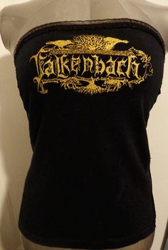 Falkenbach, ladies heavy metal band shirt tube top. Great for fans of Folk, Nordic, and pagan metal. Bands such as Wintersun, Amon Amart, Bathory, Black Messiah, Nomans Land, Tyr etc.. Starting at only $26!!