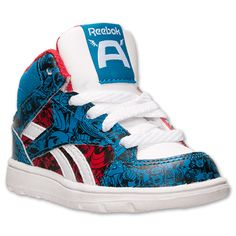 $19.98 Boys' Toddler Reebok Captain America Casual Shoes | Finish Line | Royal Blue/Red/White