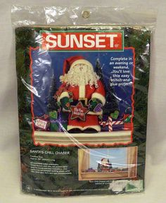 1998 Sunset Dimensions Santa's Chill Chaser Stitch and Glue Christmas Craft Kit #SunsetDesigns