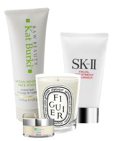 Travel Like an Editor - trip to Big Sur - morning beauty must-haves: Kat Burki face wash, $34, katburki.com; The Organic Pharmacy face cream, $85, theorganicpharmacy.com; Diptyque scented candle, $30, nordstrom.com; SK-II cleanser, $75, sephora.com #InStyle