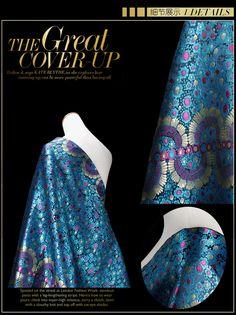 Aliexpress.com: Comprar 150 * 58 cm moda azul jacquard tela del vestido de ropa material del remiendo bricolaje de tela para hacer vestidos confiables proveedores de SILK FASHION.