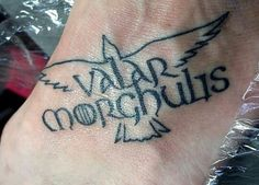 My new Valar Morghulis foot tattoo. <3