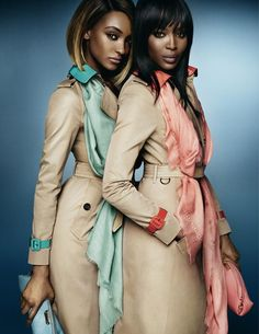 Jourdan Dunn & Naomi Campbell - Burberry Spring 2015 campaign, photographed by Mario Testino
