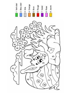 Home Decorating Style 2020 for Coloriage Magique Paques, you can see Coloriage Magique Paques and more pictures for Home Interior Designing 2020 at Coloriage Kids. Easter Coloring Pages, Coloring Book Pages, Coloring For Kids, Easter Arts And Crafts, French Colors, Color By Numbers, Easter Colors, Easter Printables, Easter Activities