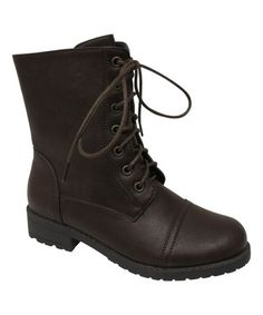 Look what I found on #zulily! Brown Rio Ankle Boot by Bonnibel #zulilyfinds