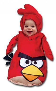 Angry Birds Babykostüm rot - Niedliche Kostümidee für Babys #costume #kostum #angrybirds