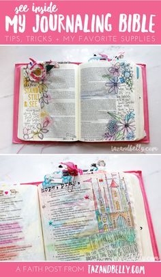 See inside my Journaling Bible + tips, tricks & favorite supplies | tazandbelly.com