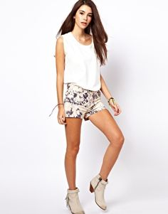Image 1 of Only Blur Print Shorts