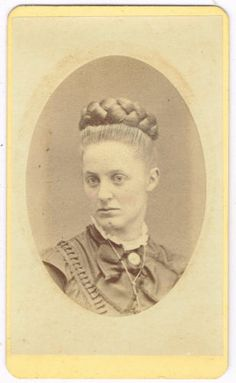 Young Lady Fancy Hair in Tranton New Jersey by Moses 1870's CDV | eBay