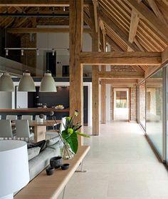 -Modern Pole Barn Home Interior